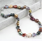Classic Design Multi Color Irregular Shape Pearl Necklace