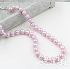 Wholesale Classic Design 9-10mm Light Purple Freshwater Pearl Beaded Necklace