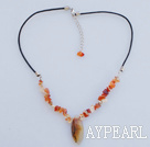 lovely agate necklace with extendable chain