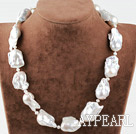 Enkelt Strand Big White Nuclear Pearl Necklace