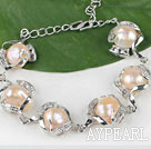 lovely pearl bracelet with extendable chain