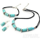 popular turquoise necklace bracelet earring set
