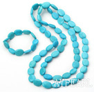 12*18mm turquoise necklace bracelet set