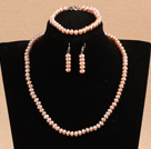 pearl crystal jade set