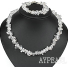 Fashion White Fillet Crystal Set With Toggle Clasp (Necklace With Matched Bracelet)