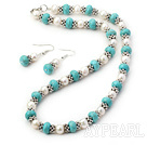 Wholesale pearl turquoise set