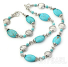 Fashion Blue Turquoise With Nice Charm Set(Necklace With Matched Bracelet)