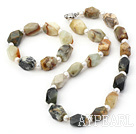 Fashion Fresh Water Pearl Ancient Jade Necklace Bracelet Set