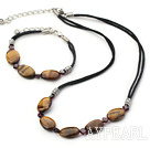 Classic Design Tiger Eye Stone Set(Necklace With Matched Bracelet)