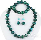 Fashion Round Phoenix Stone Beaded Set(Necklace, Bracelet With Matched Earrings)