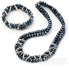 dark blue crystal set