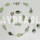 pearl crystal and serpentine jade necklace bracelet earrings set