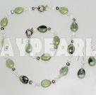 pearl crystal and serpentine jade necklace bracelet earrings set
