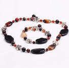Wholesale Vintage Style Multi Color Agate Jewelry Set(Necklace With Matched Bracelet)