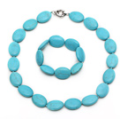 chunky style 18*25mm beads turquoise necklace bracelet set