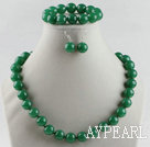 14mm aventurine ball necklace bracelet earrings set