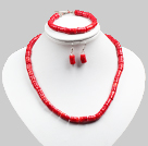 Wholesale crystallize pink agate necklace and bracelet set with extendable chain