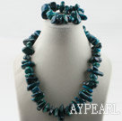 Wholesale Big style phoenix stone set(necklace and matched bracelet)