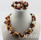 Wholesale colorful shell beads necklace bracelet set