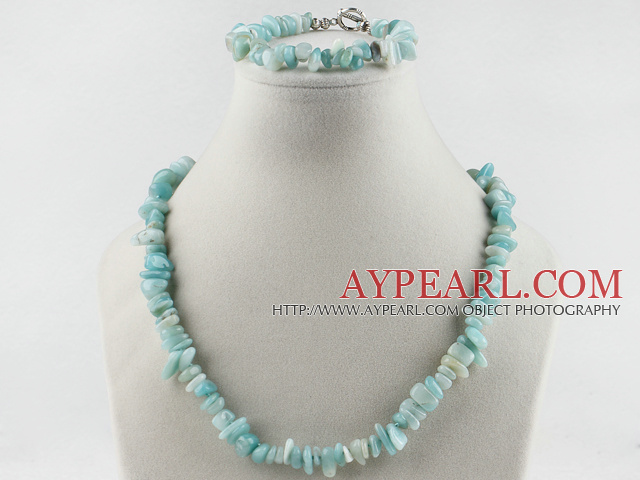 8-12mm amazon stone necklace bracelet set