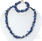 lapis set( necklace and bracelet) with toggle clasp