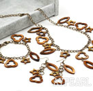 Wholesale Assorted Star and Heart Shape Brown Shell Set (Necklace Bracelet and Matched Earrings)