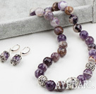 Wholesale 14mm Faceted Amethyst Set ( Necklace and Matched Earrings )