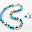Wholesale 12mm Tibet Turquoise Set ( Necklace and Matched Earrings )