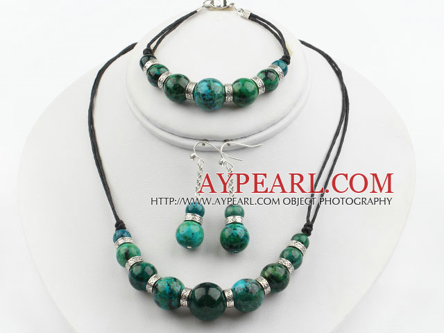 Round Phoenix Stone Set ( Necklace Bracelet and Matched Earrings )