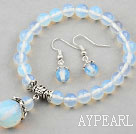Wholesale Classic Design Opal Set ( Beaded Bracelet and Matched Earrings )