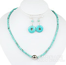 turquoise necklace with matched earrings