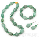 wonderful 8-18mm aventurine necklace bracelet earring SET