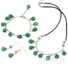 10mm aventurine set( necklace, bracelet and earrings)