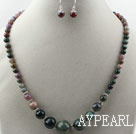 Indian Agate Set ( Necklace and Matched Earrings )