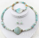 Amazon Stone Set ( Necklace Bracelet and Matched Earrings )