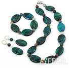 phoenix stone set( necklace, bracelet, earrigns) with moonlight clasp