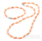 Wholesale pearl and coral set( necklace, bracelet, earrings)