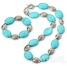 Wholesale 18*25mm turquoise set( necklace, bracelet) with moonlight clasp