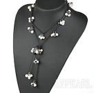 Wholesale black-white pearl necklace
