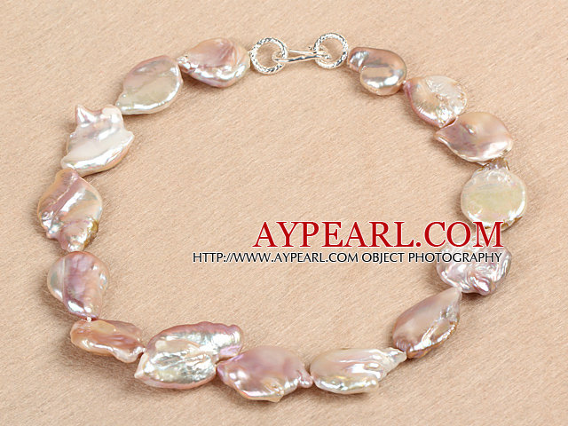 Elegant Natural Purple Irregular Shape Rebirth Pearl Chunky Party Necklace