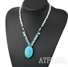 Wholesale turquoise pearl necklace
