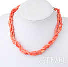 Wholesale Fashion Cylinder Shape Coral Necklace With Classic Horn Charm