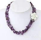 Wholesale pearls and Amethyst necklace