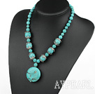 17.5 inches turquoise necklace with lobster clasp