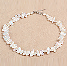 Gorgeous Party Style Natural White Teeth Shape Rebirth Pearl Necklace