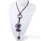 Wholesale Persian agate black pearl necklace