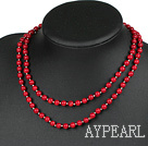 fashion long style coral neckalce