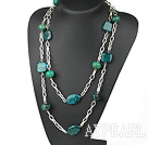fashion long style phonix stone necklace