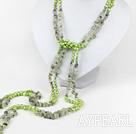 Wholesale multi strand green pearl and grapestone necklace