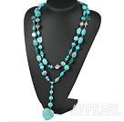 Wholesale long style turquose neckace